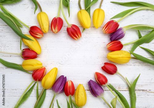 Plakat Serce tulipanów