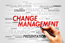 Change Management Word Cloud, Business Concept