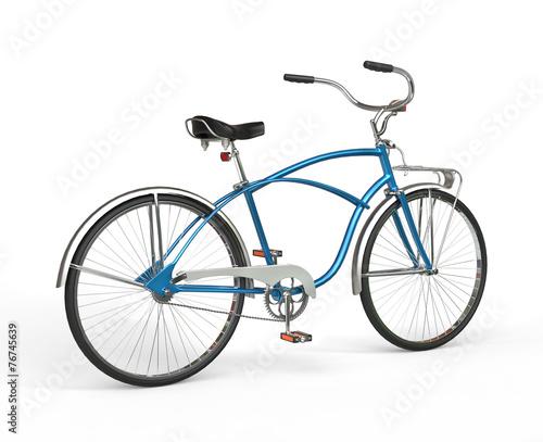 Staande foto Fiets Vintage Blue Bicycle
