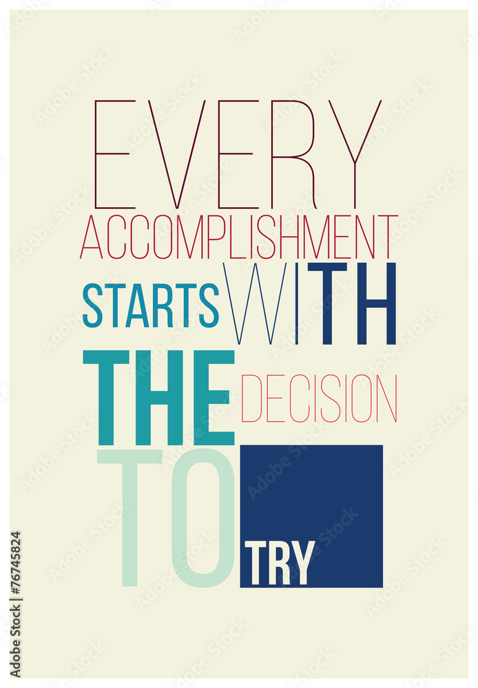 Fotografija  Motivational poster for a good begining