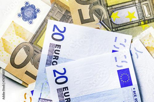 banconote euro Canvas Print