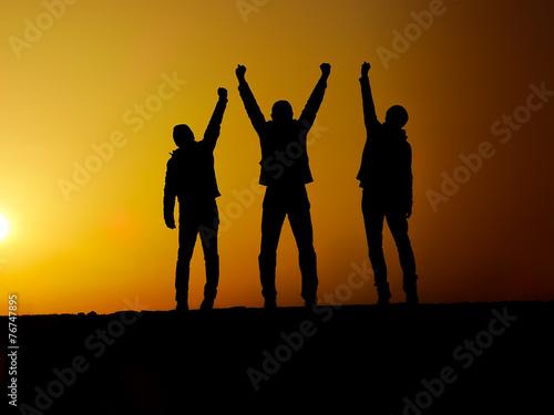 Fotografia  victory silhouette