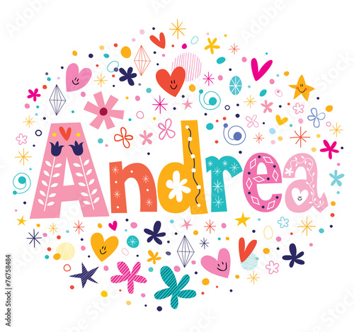 Photo Andrea female name decorative lettering type design