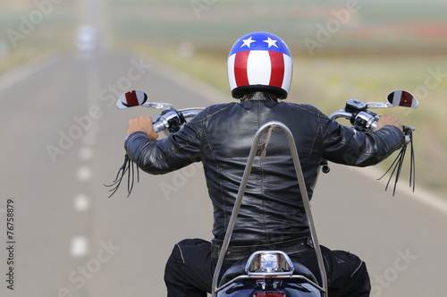 Fotografia, Obraz  long road motorbike