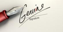 Genuine Fake Signature