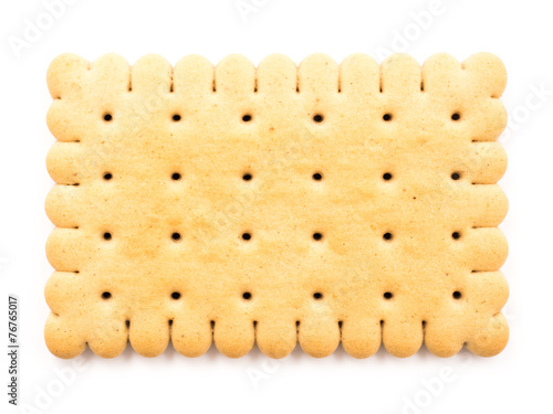 Fotografia Biscuit Isolated On White Background