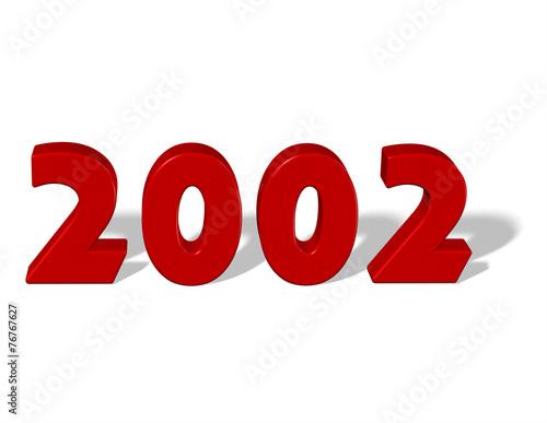 Fotografia  kırmızı renkli 2002 sayısı