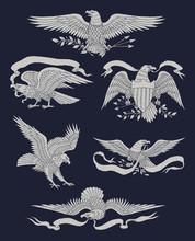 Hand Drawn Vintage Eagle Vecto...