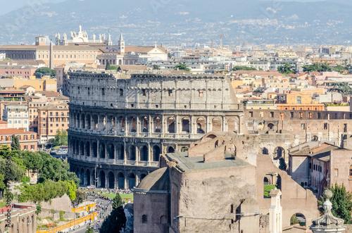 Fotografia, Obraz  The Colosseum and the Roman Forum, Rome