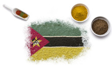 Spices Forming The Flag Of Moz...