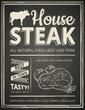 Steak house poster