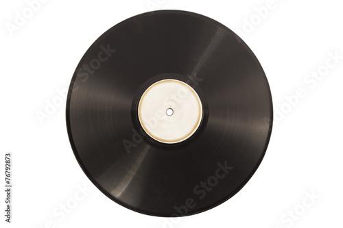 Photo  Old vinyl lp record