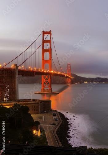 Aluminium Prints Golden Gate Bridge, San Francisco, California
