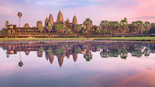Angkor Wat Temple At Sunrise, ...
