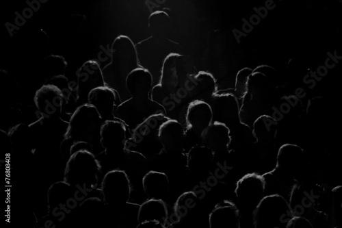 Leinwand Poster Echte Publikum Silhouette