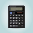 Vector illustration of electronic calculator
