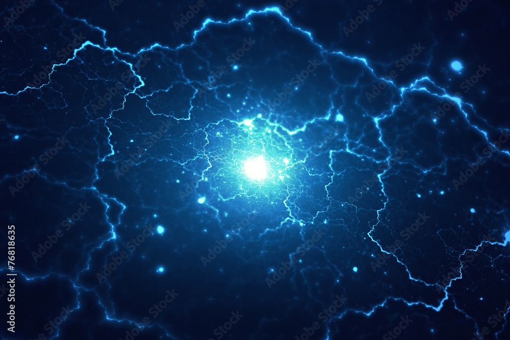 Fototapety, obrazy: Abstract electromagnetic electric field background