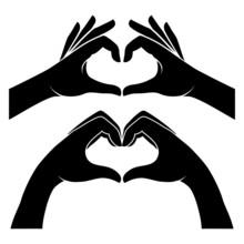 Hands In Form Of Heart
