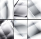 Set of grey and white light backgrounds