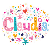 Claudia Name Design