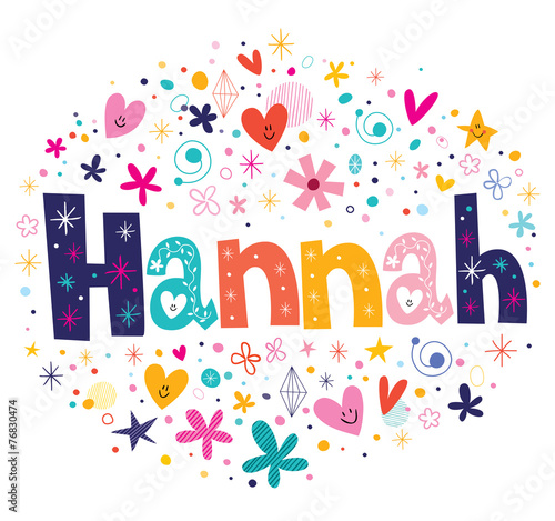 Hannah name design Wallpaper Mural