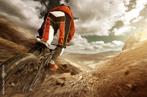 BMX Downhill Canvas Print