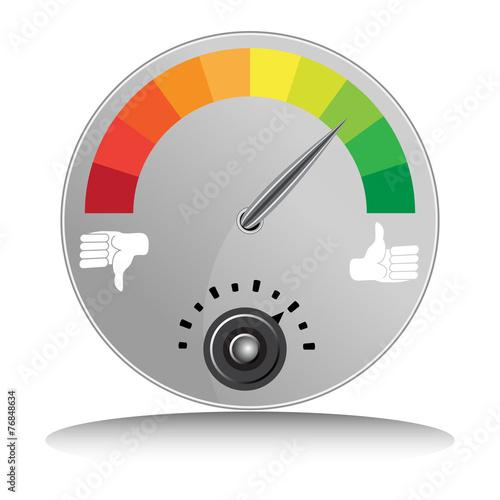 Fotografie, Obraz  Like Dislike Meter