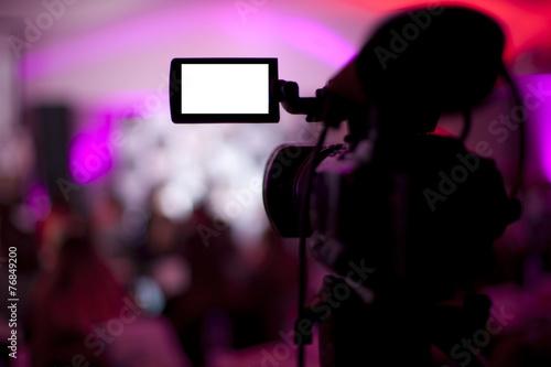 Fotografie, Obraz  TV broadcast studio