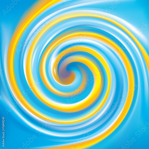 Spoed Foto op Canvas Psychedelic Vector background. Mix of national Ukrainian colors: yellow and