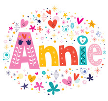 Annie Girls Name Decorative Le...