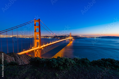 Twilight Golden Gate Bridge, San Francisco Poster
