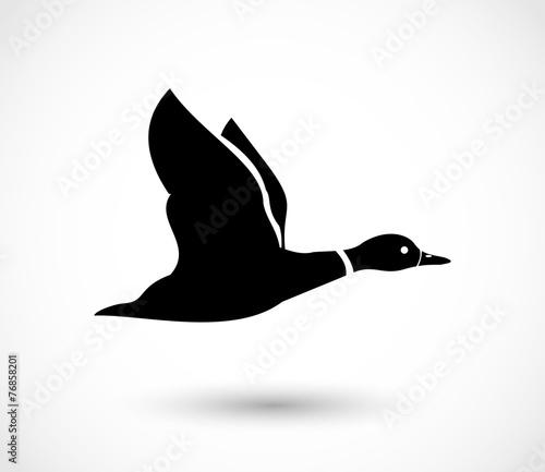 Fotografia Duck flying icon, duck hunt vector