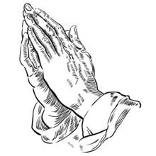 Hände Zum Gebet Gefaltet, Sch...
