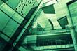 Leinwanddruck Bild - Glass of modern tower for business background