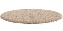 Round Carpet Isolated On White...