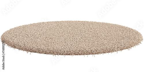 Round carpet isolated on white background Canvas