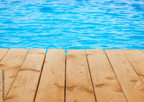 Cuadros en Lienzo Poolside background