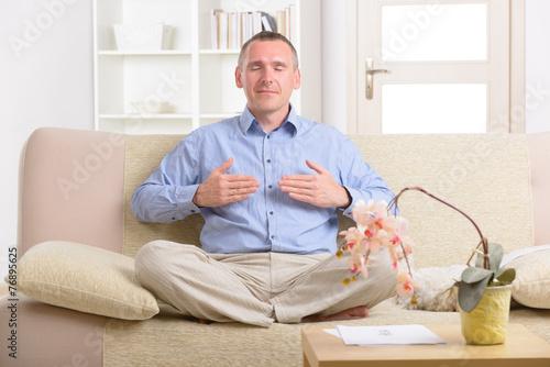 Photo  Man practicing energy medicine