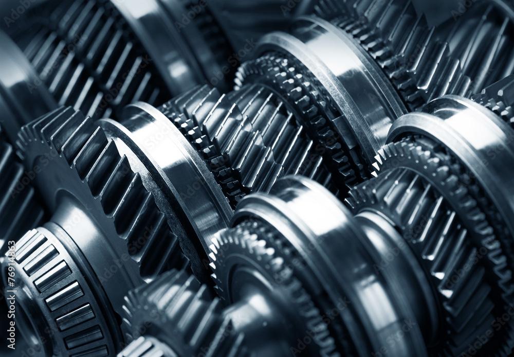 Fototapety, obrazy: Gear metal wheels
