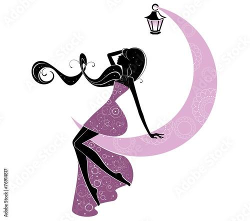 rysunek-dziewczyny-w-fioletowej-sukience-na-ksiezycu