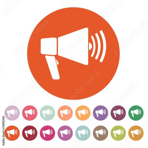 The megaphone icon bullhorn symbol flat buy this stock vector the megaphone icon bullhorn symbol flat publicscrutiny Gallery