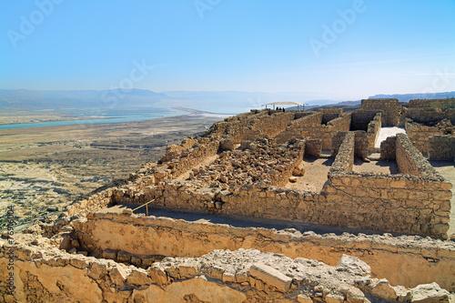 fototapeta na szkło Ruiny zamku Herods twierdzy Masada w Izraelu