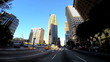 POV built structures intersection Financial district Los Angeles California USA