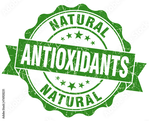 antioxidants green vintage isolated seal Wallpaper Mural