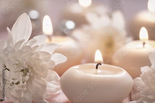 Cadres-photo bureau Zen Candles and flowers