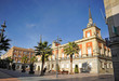 Plaza de la Constitución, Ayuntamiento, Huelva, España