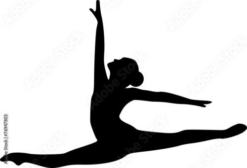 Ballet Jumping Dancer плакат