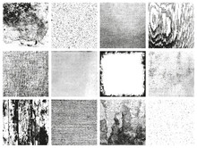 Collection Of 12 Grungy Vector...