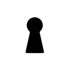 The Keyhole Icon. Lock Symbol. Flat