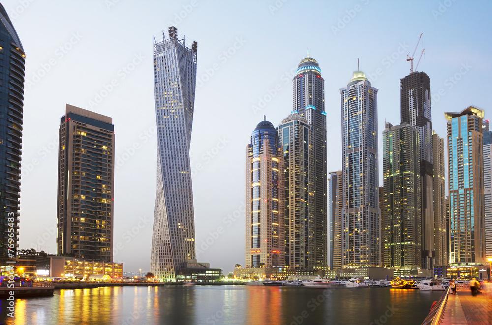 Fototapeta Обьединённые Арабские Эмираты. Набережная Дубая.